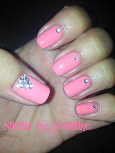 OPI Sorry I'm Fizzy Today opi gel rhinestones nail art shellac polish