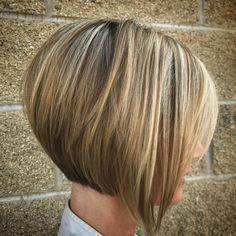 Concave Short Bob for Fine Hair