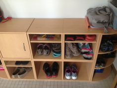 Give everyone their own space.  Each member of the family should have a place to put their items in the entrance.  By having enough space, you can keep things more organized. More great home organization tips on this site.