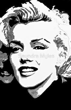 Marilyn in Black and White #4:saundramylesart
