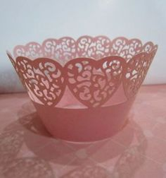 On Sale - Laser Cut Lace Cupcake Wrappers - Valentine x 20. $9.00, via Etsy.