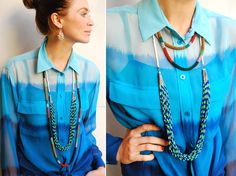 Like this necklace and earrings, and shirt is kind of cool but not on me