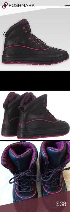 ce8fcfbc7887b Girls Nike ACG boots Pink and black Nike ACG boots like New pink and black  design