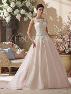 Hochzeitskleid mit spitze am hals
