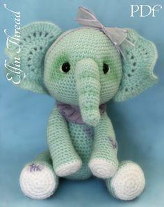 Elfin Thread Elephant Crochet Amigurumi Pattern by ElfinThread