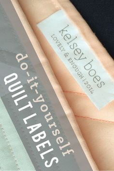 DIY Quilt Labels | M