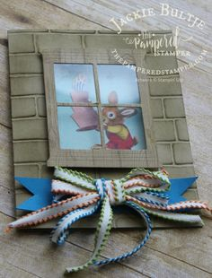 Brick Wall Embossing Folder Hearth And Home Thinlets Window Sheets Homemade Birthday Cards