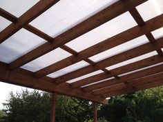 Here's a shot of the polycarbonate roof panels
