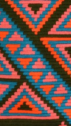 Tapestry Bag, Tapestry Crochet, Tribal Patterns, Poufs, Crochet Bags, Tapestries, Purses And Bags, Knitting, Inspiration