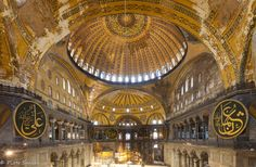 Interior, Church of Hagia Sophia, Constantinople, Turkey, 532-537