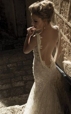 Galia Lahav 's Backless Gown