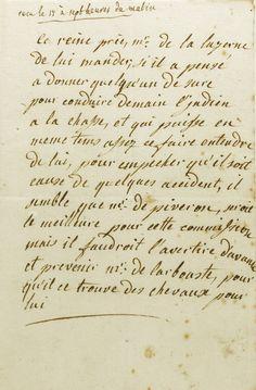Letter from Marie-Antoinette