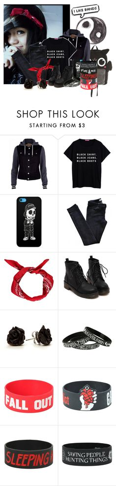 """""""Black Shirt. Black Jeans. Black Boots."""" by bvbarmy-jaseyrae ❤ liked on Polyvore featuring Loungefly, River Island, Tribes and Vanessa Bruno Athé"""
