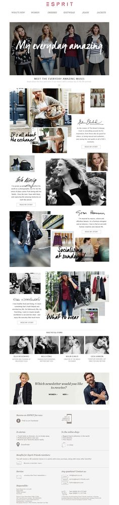 """#newsletter Esprit 09.2014 NEW CAMPAIGN: Find inspiration from """"EVERYDAY AMAZING""""!"""