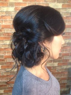 Romantic bridal updo for a sweet wedding @ Color Me Bride by Hollywood Makeup Studio