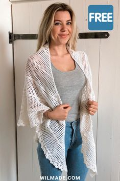 Durable Friendship Shawl - free crochet shawl pattern by Wilmade - Crafts Crochet Shawls And Wraps, Crochet Poncho, Crochet Scarves, Crochet Clothes, Crochet Granny, Crochet Vests, Crochet Shirt, Knitted Shawls, Shawl Patterns