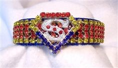 Starting at $44.95 - The Super Duper Man #Crystal #Dog Collar was inspired by the #manofsteel, #Superman! It features #blue, #red and #yellow crystals on a bright blue collar. #Super #Dog #costume is available too!  Sizes XS-2XL at Sugar Chic Couture:  https://www.sugarchiccouture.com/ProductDetails.asp?ProductCode=SDMDC-104  #dogs #shop #gifts #cute #buy