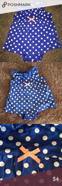 Polka Dot one piece onesie dress Perfect for summer!  all one piece summer dress Carters Dresses