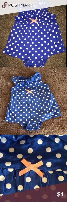 Polka Dot one piece onesie dress Perfect for summer!  all one piece summer dress Carters Dresses