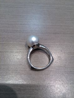 Pearl Rapture Bali Ring Sterling Silver 925 Genuine Gray Mabe Pearl Face Height 18 Mm Size 6 Excellent In Cushion Effect