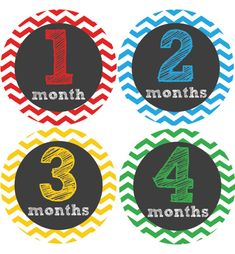Chevron Baby Month Stickers Monthly Baby Stickers Onesie Stickers
