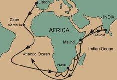 vasco da gama original sea route with gujarati trader chandan from zanzibar, africa
