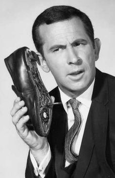 We didn't have cell phones..but Maxwell Smart had the next best thing!