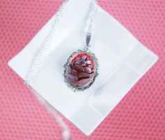 polymer clay pine cone necklace