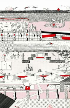 OMA | parc de la Villette | Khoolhaas diagramme
