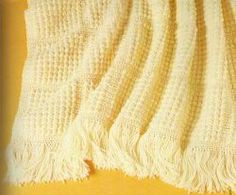 Just Updated: The Cobblestones Afghan. A free crochet afghan pattern with awesome fringe edging!