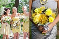 Image result for yellow bridesmaids bouquet of flowers