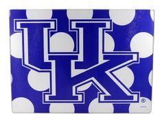 University of Kentucky Polka Dot Cutting Board   Zokee