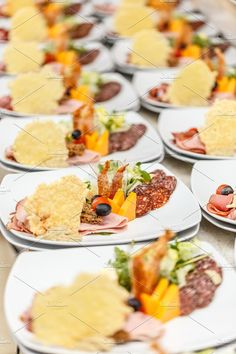 #Appetizer plates  Appetizer plates in restaurant kitchen waiting for served