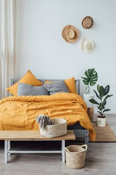 Future Home Interior Home Sweet Home: My Fave Etsy Picks (Home Edition) - Paper and Stitch Home Interior Home Sweet Home: My Fave Etsy Picks (Home Edition) - Paper and Stitch Mustard Bedding, Yellow Bedding, Bedding Sets, Bedroom Yellow, Dark Bedding, Gold Bedroom, Bedroom Colors, Bedroom Decor, Bedroom Ideas