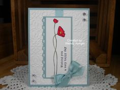 CC317~Wishing You A Happy Day! by WeeBeeStampin - Cards and Paper Crafts at Splitcoaststampers
