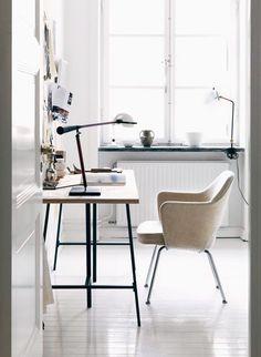 white creative work space / sfgirlbybay
