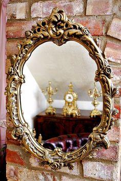 Vintage Victorian Style Gilt Wall Mirror #Victorian #Mirrors