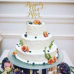 ナチュラルお洒落!大人デザインのウェディングケーキ特集* | marry[マリー]