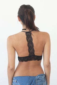 Details Size Shipping • Main fabric: 92% Cotton 8% Spandex Cup: 100% Cotton • Racerback lace triangel bralette • Hand Wash • Line dry • Imported • Measured fro