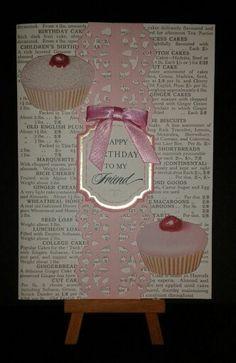 Cupcake Birthday Card www.etsy.com/shop/jengirlsdesigns #etsy #jengirlsdesigns #handmade #card #handmadecard #birthday #birthdaycard #cupcakes #sweet #etsyshop