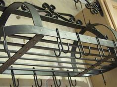 Wrought Iron Pot Rack $375