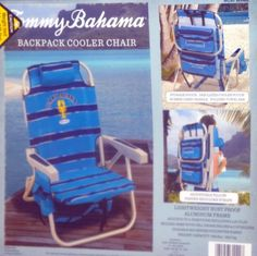 Tommy Bahama Relax Backpack Cooler Chair with Folding Towel Bar and Padded Shoulder Straps - Blue - http://www.campingandsleepingbags.com/tommy-bahama-relax-backpack-cooler-chair-with-folding-towel-bar-and-padded-shoulder-straps-blue/