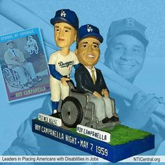#Repost: @nticentral: It's National Bobblehead Day!  Back in 2014 the Dodgers gave fans the first disability bobblehead at a Los Angeles Dodgers game featuring Roy Campanella and Pee Wee Reese. The bobblehead depicts Reese wheeling Campanella onto the Los Angeles Memorial Coliseum field as he did on Roy Campanella Night on May 7 1959. He was an eight-time all-star MVP player and inducted into the Baseball Hall of Fame in 1969. An automobile accident in 1958 ended Campanellas playing career…