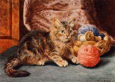 """Mischief"" -- by Wilson Hepple (British, 1854–1937)"