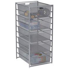 Platinum elfa Mesh Garage Drawers | The Container Store