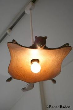 Home Decor . Wooden Flying Squirrel Pendant Lamp - Artful Objects I have no words Home Lighting, Lighting Design, Lamp Light, Light Up, Light Fixture, Flying Squirrel, I Love Lamp, Pendant Lamp, Decoration