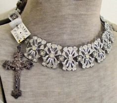 SOLD+to+Red++rhinestone+collar++vintage+by+TheFrenchCircus+on+Etsy