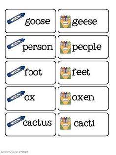 irregular plural nouns on pinterest plural nouns proper