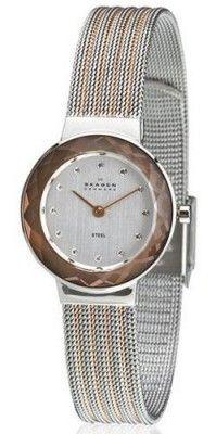 Relógio Skagen Two Tone Mesh With Mirrored Case Watch 456Srs1  Relogio   Skagen Feminino E 14f717d60d