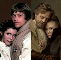 Luke and Leia. 40 years apart.